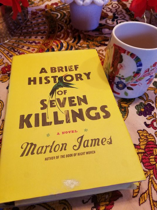 A Brief History of Seven Killings A Novel By Marlon James Book Cover Photographed By Paula T. Renfroe