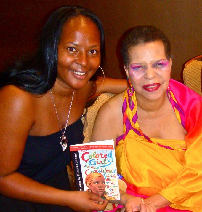 Paula T. Renfroe with Ntozake Shange