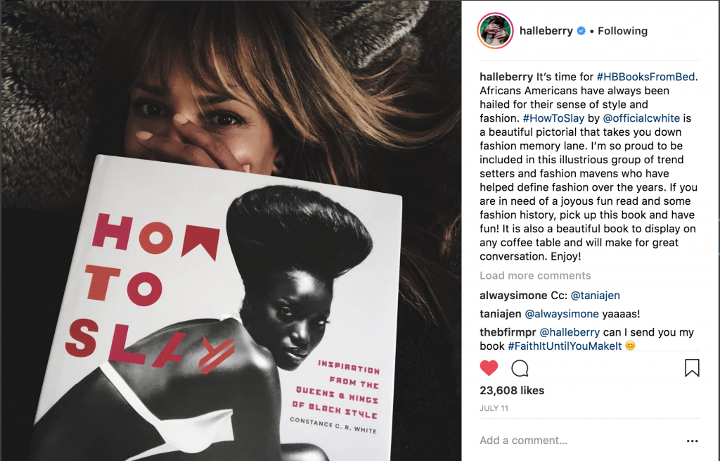 Halle Berry's Summer Read Posted on Instagram