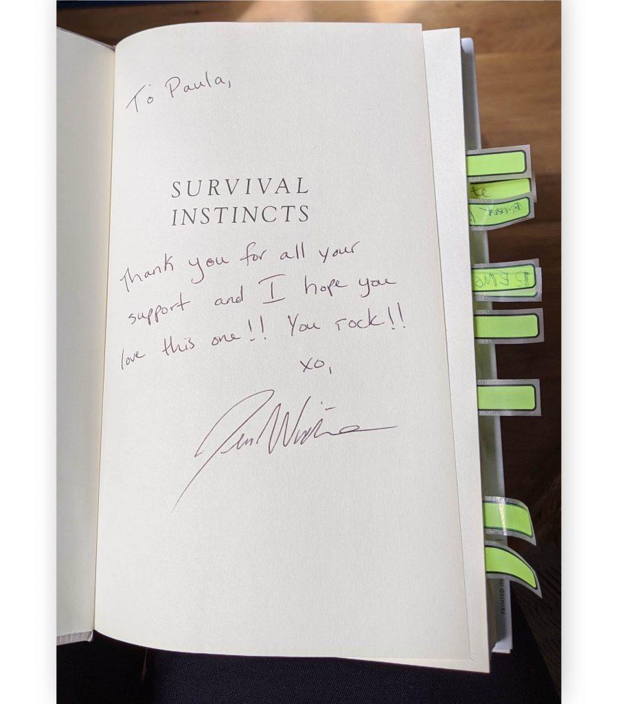 Survival Instincts by Jen Waite Personalized Autograph to Paula T. Renfroe