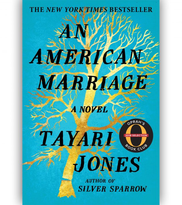 An American Marriage by Tayari Jones Book Cover with Oprah Stamp
