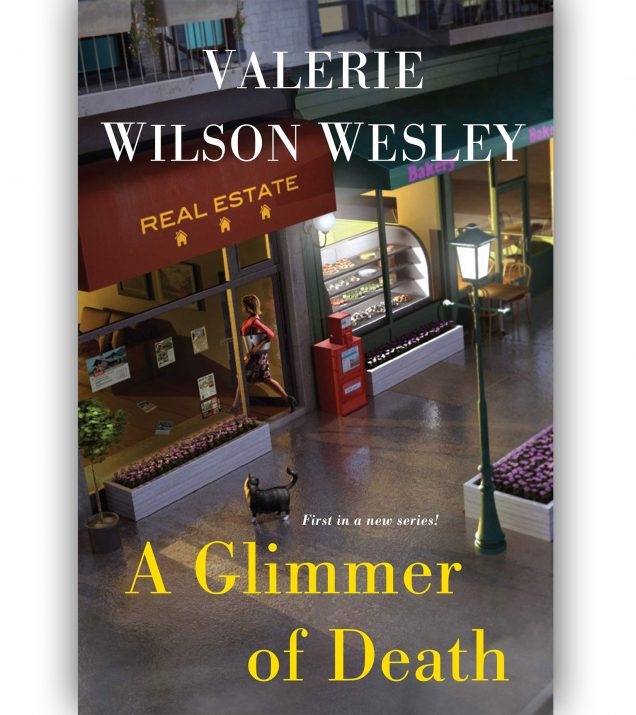 A Glimmer Of Death By Valerie Wilson Wesley Book Cover